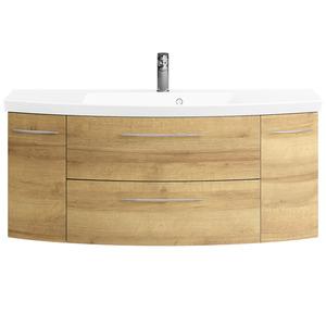 Waschtischunterschrank 'Cassca' Riviera Eiche quer 119 cm
