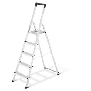 Stehleiter 'L40 BasicLine' 5 Stufen, silbern