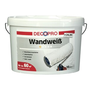 DecoPro Wandweiß 10 Liter stumpfmatt