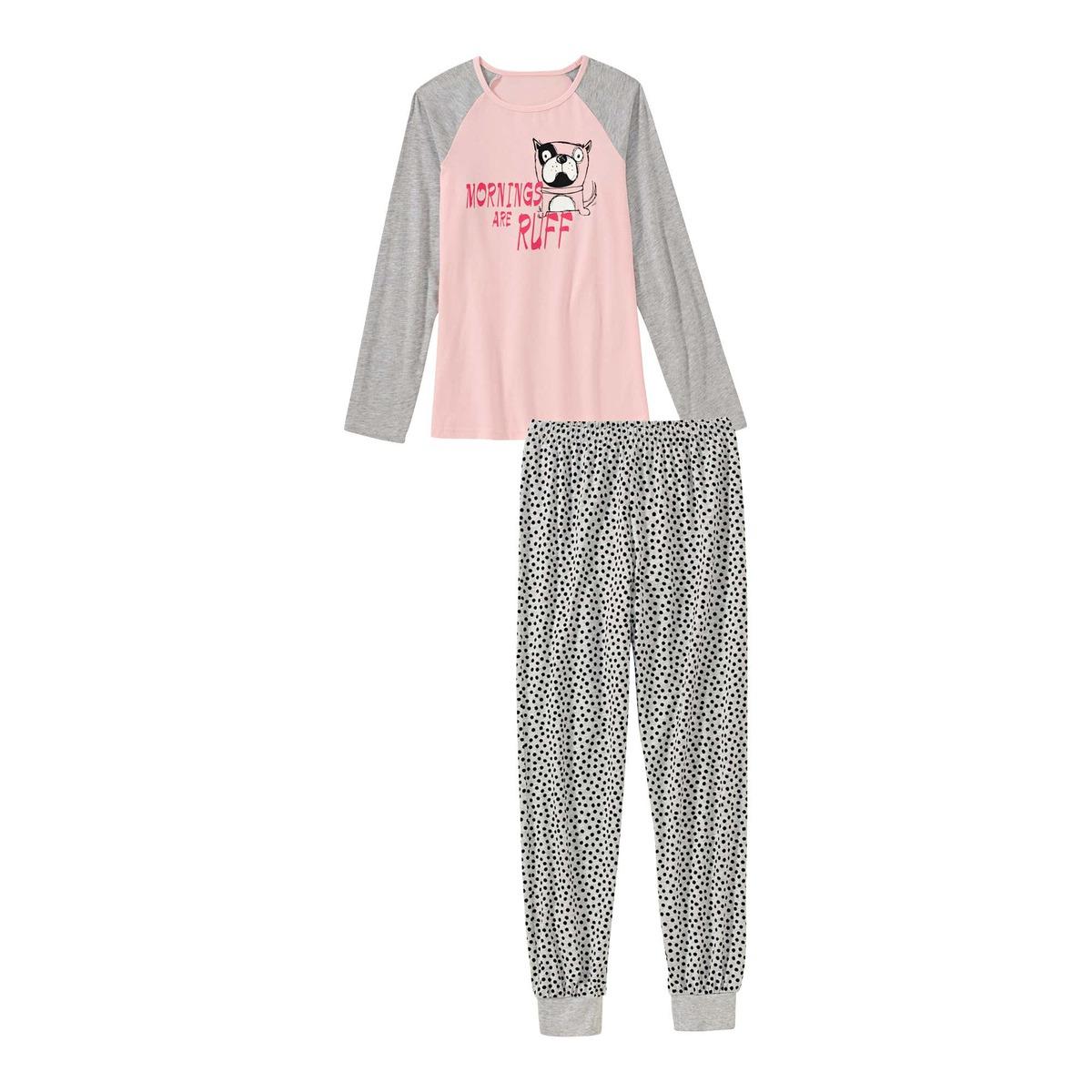 Bild 1 von Mädchen-Schlafanzug mit Hunde-Motiv, 2-teilig
