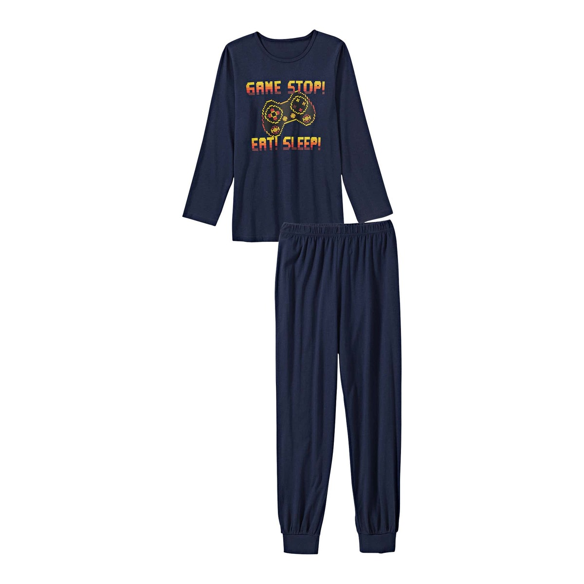 Bild 1 von Jungen-Schlafanzug mit Gamer-Motiv, 2-teilig