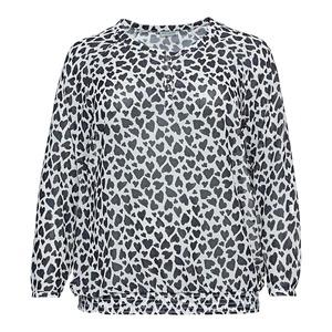 Damen-Bluse mit Herzmuster, große Größen