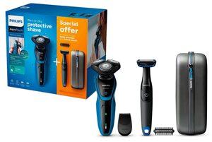 Philips Elektrorasierer S5050/64 Series 5000, Aufsätze: 1, Vorteilspack Aquatouch mit Bodygroom, ComfortCut Klingensystem, SmartClick Präzisionstrimmer