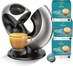 NESCAFÉ® Dolce Gusto® Kapselmaschine Eclipse EDG 736.S, mit 3 Packungen NESCAFÉ® Dolce Gusto® Dallmayr Crema d'Oro Caffè Latte.