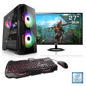 """CSL »HydroX T9786 Wasserkühlung« PC-Komplettsystem (27, Intel Core i7, GTX 16, 16 GB RAM, 1000 GB HDD, 512 GB SSD, i7-9700F, GTX 1650, 16 GB DDR4, SSD, 27"""" TFT)"""