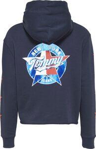 TOMMY JEANS Kapuzensweatshirt »TJW MODERN LOGO HOODIE,« mit großem Backprint & Sternenprint auf den Ärmeln