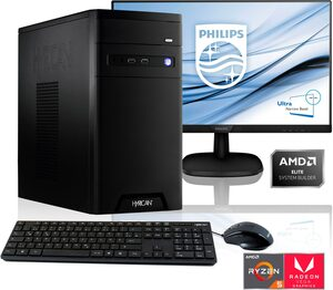 Hyrican »PC Ryzen 5 3400G 16GB RAM 1TB SSD + 68 cm (27) TFT« Gaming-PC-Komplettsystem (27 Zoll, AMD Ryzen 5, 16 GB RAM, 1000 GB SSD)