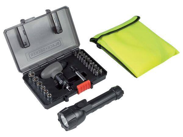 Black & Decker SOS Kit 30-tlg. mit Sicherheitsweste