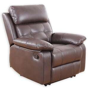 TV-Sessel - dunkelbraun - Kunstleder - Relaxfunktion