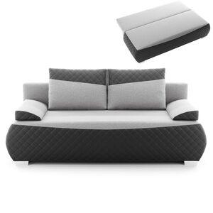 Schlafsofa - grau-schwarz - inklusive Kissen