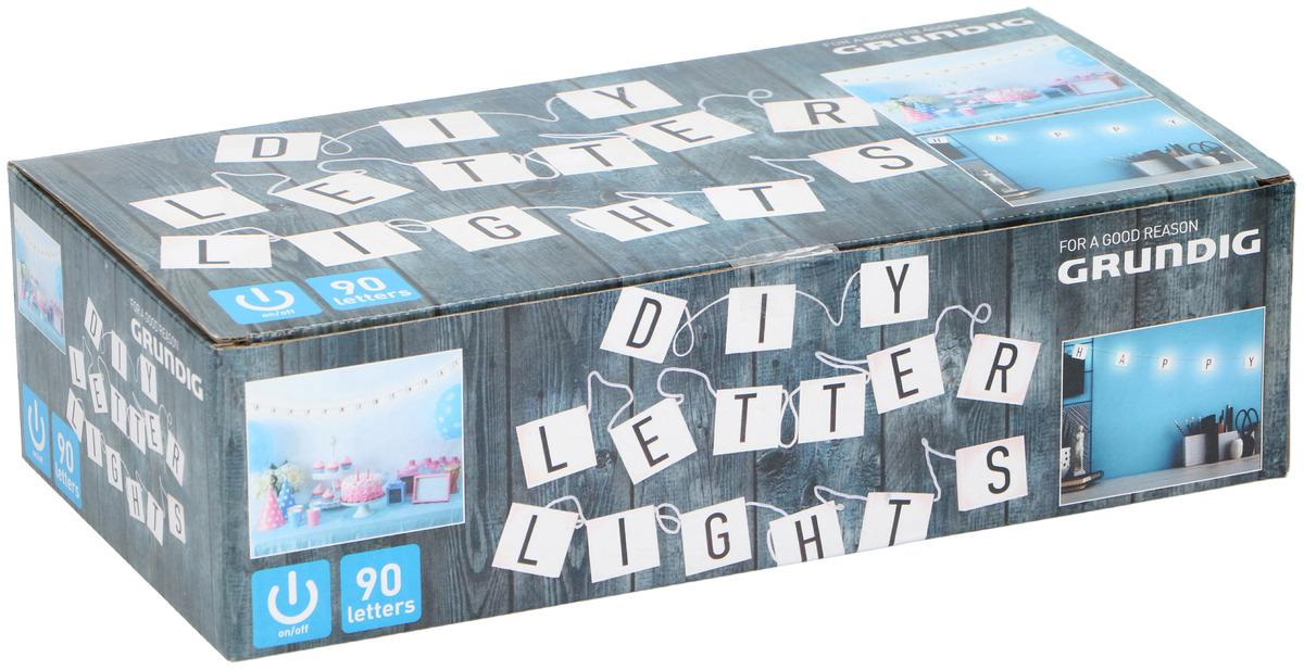 Bild 1 von GRUNDIG Set LED Leuchtbuchstaben Mehrfarbig