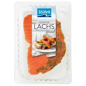 """Stührk Lachs """"Gravad Art"""" geräuchert in Scheiben 100g"""