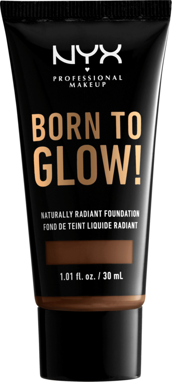 NYX PROFESSIONAL MAKEUP Make-up Born To Glow Naturally Radiant Foundation Deep Rich 20