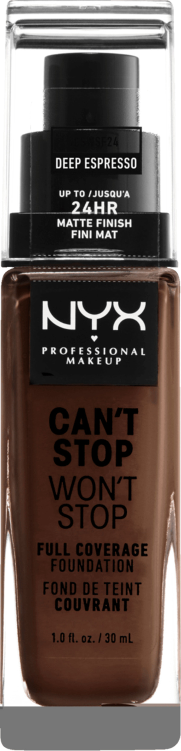 NYX PROFESSIONAL MAKEUP Make-up Can't Stop Won't Stop 24-Hour Foundation deep espresso 24