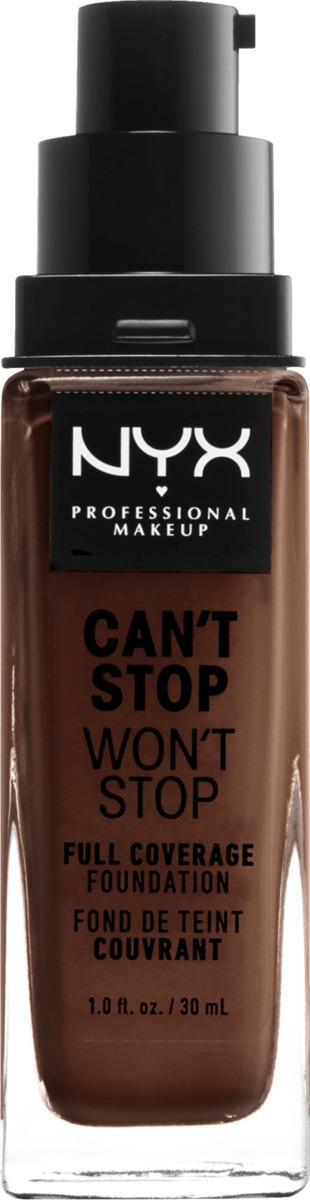 Bild 1 von NYX PROFESSIONAL MAKEUP Make-up Can't Stop Won't Stop 24-Hour Foundation warm walnut 22.5