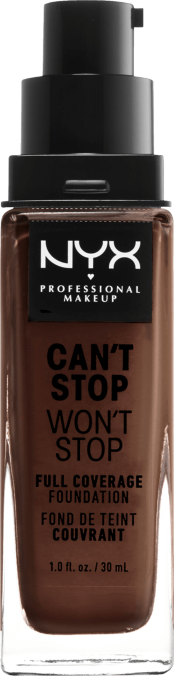 NYX PROFESSIONAL MAKEUP Make-up Can't Stop Won't Stop 24-Hour Foundation warm walnut 22.5