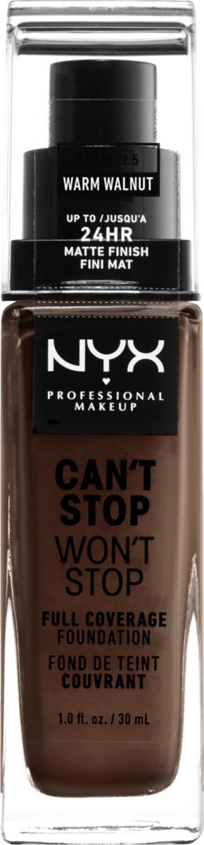 Bild 2 von NYX PROFESSIONAL MAKEUP Make-up Can't Stop Won't Stop 24-Hour Foundation warm walnut 22.5