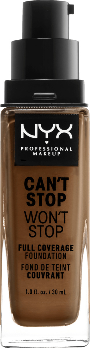 Bild 3 von NYX PROFESSIONAL MAKEUP Make-up Can't Stop Won't Stop 24-Hour Foundation warm mahogany 16.7