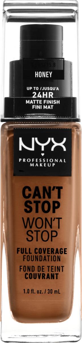 Bild 2 von NYX PROFESSIONAL MAKEUP Make-up Can't Stop Won't Stop 24-Hour Foundation honey 15.8