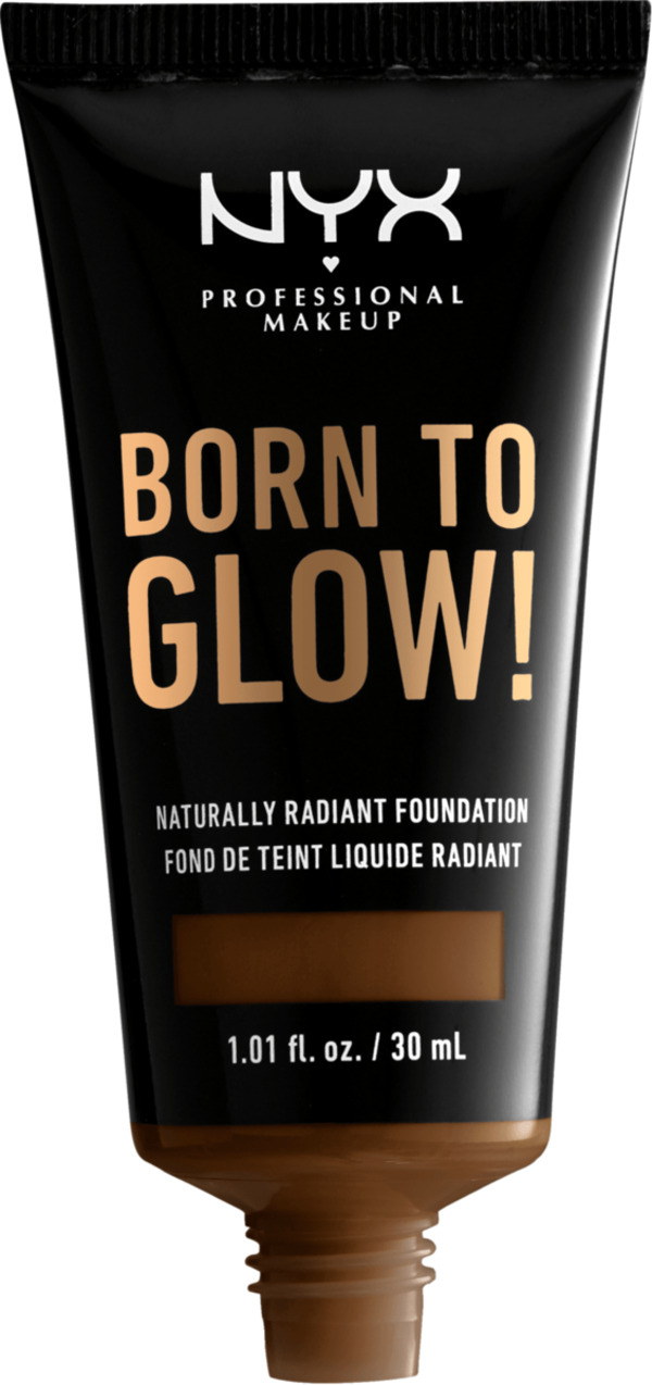 NYX PROFESSIONAL MAKEUP Make-up Born To Glow Naturally Radiant Foundation Walnut 22.3