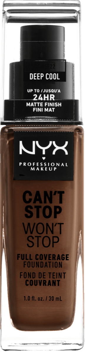 Bild 3 von NYX PROFESSIONAL MAKEUP Make-up Can't Stop Won't Stop 24-Hour Foundation deep cool 22