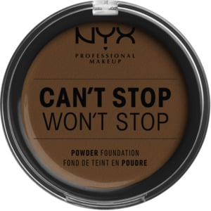 NYX PROFESSIONAL MAKEUP Foundation Can't Stop Won't Stop Full Coverage Powder Foundation Walnut 22.3