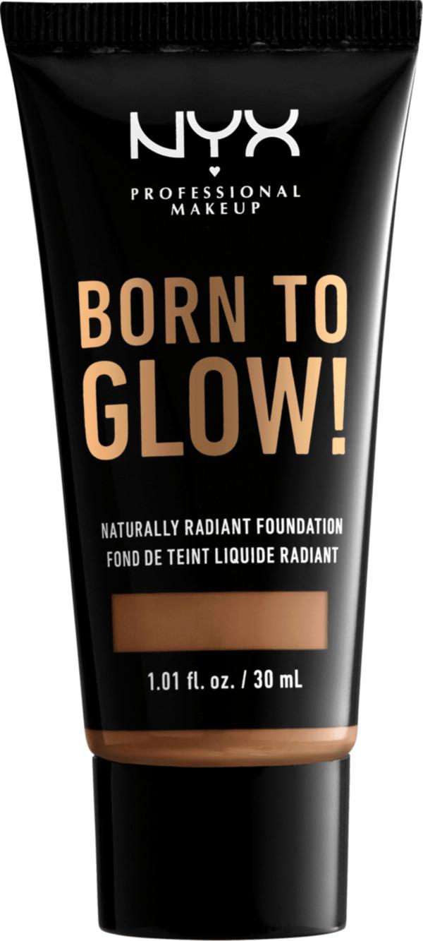 NYX PROFESSIONAL MAKEUP Make-up Born To Glow Naturally Radiant Foundation Mahagony 16