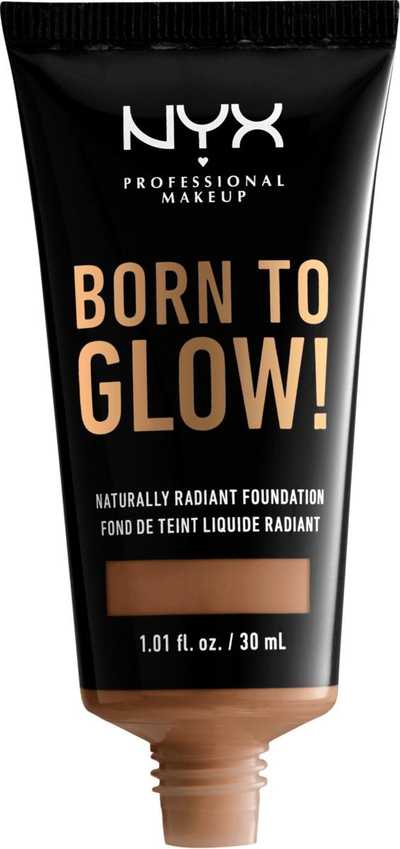 Bild 2 von NYX PROFESSIONAL MAKEUP Make-up Born To Glow Naturally Radiant Foundation Mahagony 16
