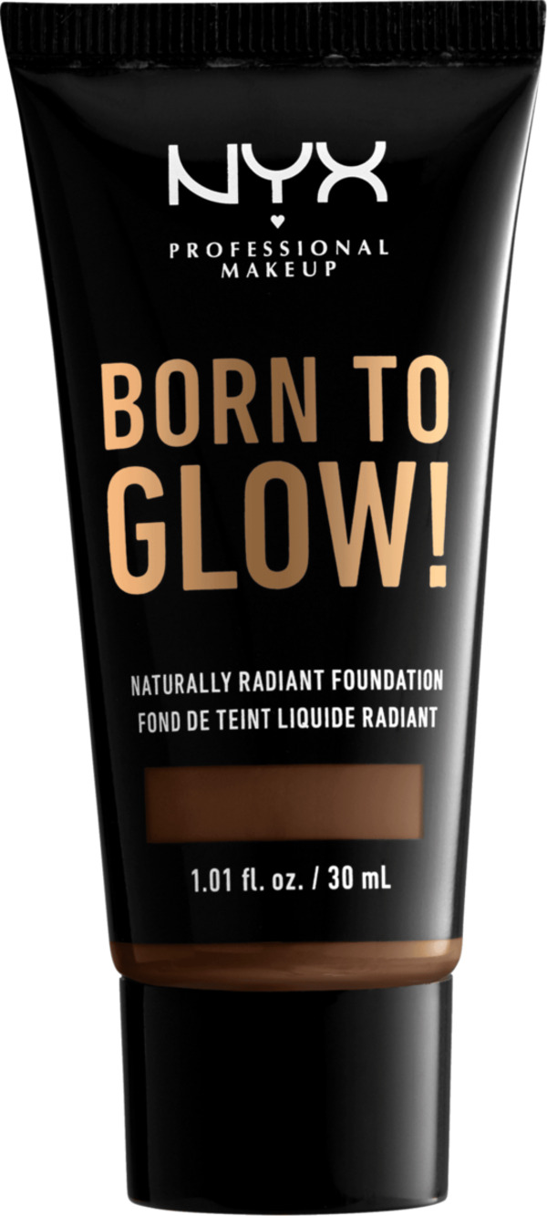 NYX PROFESSIONAL MAKEUP Make-up Born To Glow Naturally Radiant Foundation Deep Cool 22