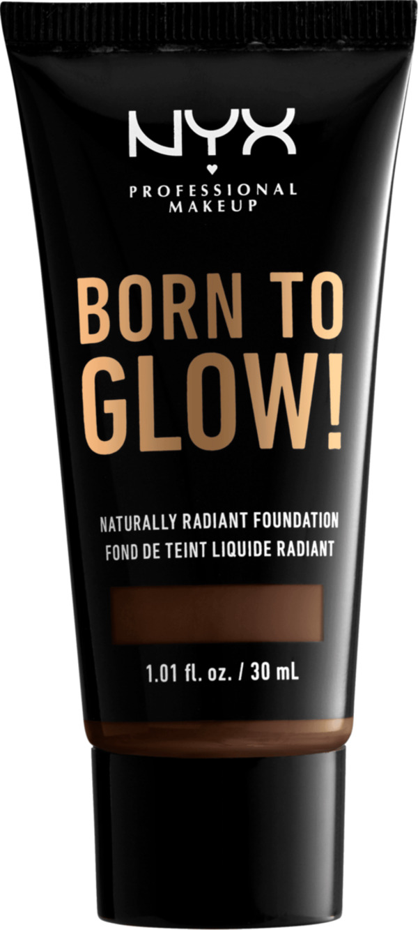 NYX PROFESSIONAL MAKEUP Make-up Born To Glow Naturally Radiant Foundation Chestnut 23