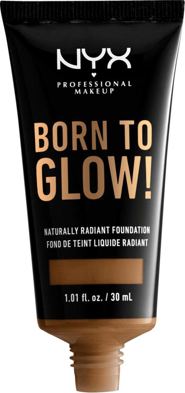NYX PROFESSIONAL MAKEUP Make-up Born To Glow Naturally Radiant Foundation Warm Mahagony 16.7