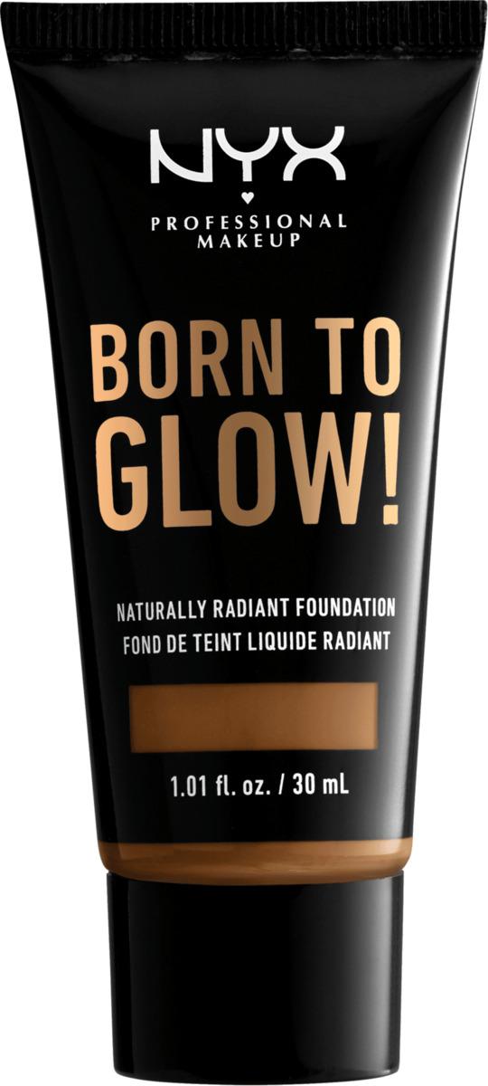 Bild 2 von NYX PROFESSIONAL MAKEUP Make-up Born To Glow Naturally Radiant Foundation Warm Mahagony 16.7