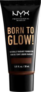 NYX PROFESSIONAL MAKEUP Make-up Born To Glow Naturally Radiant Foundation Deep Ebony 25