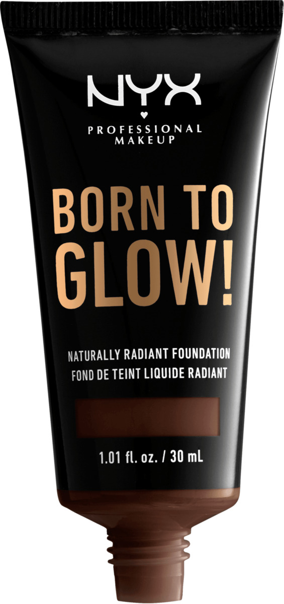 Bild 2 von NYX PROFESSIONAL MAKEUP Make-up Born To Glow Naturally Radiant Foundation Deep Ebony 25