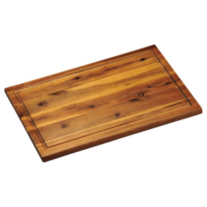 Kesper Tranchierbrett aus FSC-zertifiziertem Akazienholz mit Saftrille