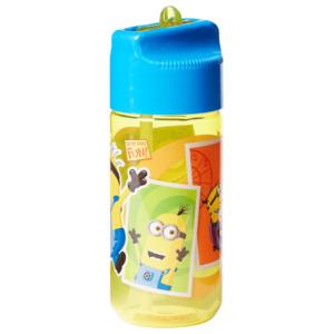 Minions Trinkflasche mit Strohhalm Gelb 430ml