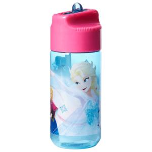 Frozen Trinkflasche mit Strohhalm Blau 430ml