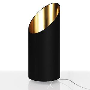 Deuba Designlampe Flammeneffekt 1600 Kelvin Schwarz/Gold