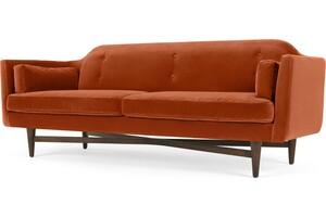 Imani 3-Sitzer Sofa, Samt in Rostorange - MADE.com