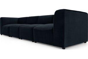 Juno modulares 4-Sitzer Sofa, Samt in Abendblau - MADE.com