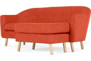 Lottie 2-Sitzer Sofa mit Recamiere, Toskanaorange - MADE.com