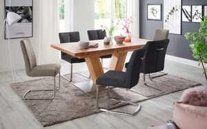 MCA furniture - Stuhlgruppe Brasilia/Managua aus Biancoeiche/taupe