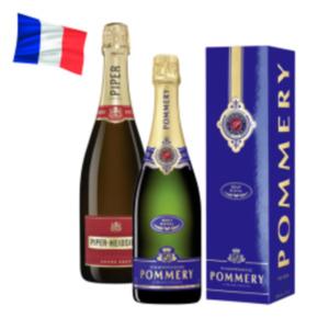 Champagner Pommery Brut Royal oder Piper Heidsieck Cuvée Brut