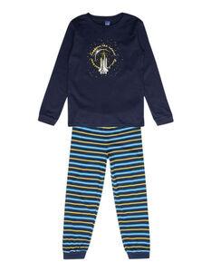 Jungen Pyjama mit Raumschiff-Print