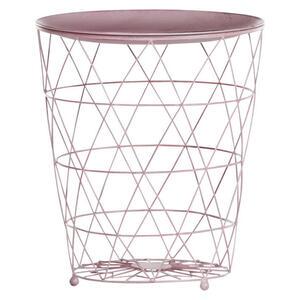 Carryhome Beistelltisch rund rosa , MIX & Match , Metall , 42 cm , lackiert , 001877025924