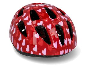 FISCHER Fahrradhelm Kinder »Herz«, gepolstert, 11 Lufteinlässe, verstellbar
