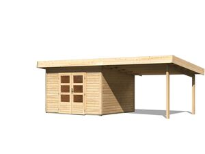Karibu Gartenhaus »Trundholm 4«, aus massivem Fichtenholz, inklusive Schleppdach