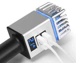 Auto Luftreiniger für 12 / 24V Zigarettenanzünder 2 x USB Technaxx