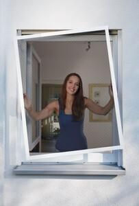 Schellenberg Insektenschutz Fenster TELESCOPE ,  60 x 70 cm bis 100 x 120 cm, weiß