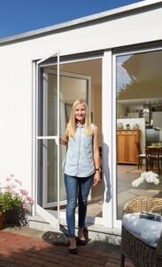 Schellenberg Insektenschutz Tür PREMIUM ,  120 x 240 cm, weiß